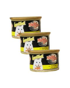 Morando Miglior Gatto Professional Duck and Chicken Mousse Can Cat Food 85 gms 3 pcs Combo