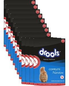 Drools Cat Food Adult Salmon and Tuna Gravy Pouches 100 gms 12 pcs