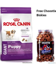 Royal Canin Giant Puppy Dog Food 15 Kg Plus Free Choostix Biscuits