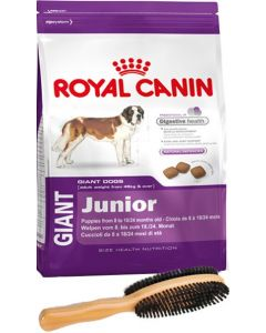Royal Canin Giant Junior 4 Kg + Double Side Dog Brush REPUBLIC DAY Special Combo