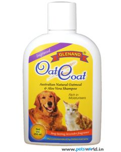 Glenand Natural Oat Meal and Aloe Vera Shampoo For Dogs and Cats 250 ml