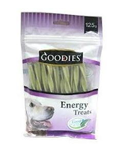 Goodies Dog Treats  Chlorophyll Triple Typed Twisted 125 gms