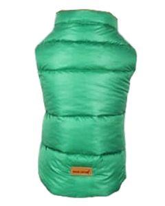 Petsworld Half Sleeve Winter Puff Jacket For Dogs Size 12 Green