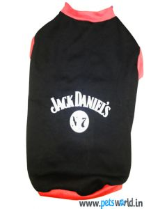 DOG EEZ Winter Dog Tshirt Jack Daniel's Black 24 inches