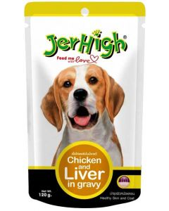Jerhigh Chicken and Liver in Gravy Dog Food 120 gms