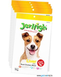 Jerhigh Dog Treats Liver Sticks 70 gms 5 Pcs Combo
