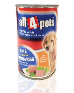 All4Pets Pate Chicken And Rice Gravy Can Food For Puppy 400 gms