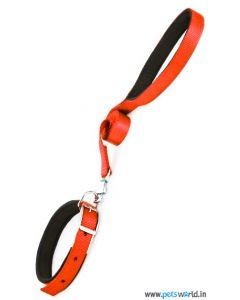 DOGEEZ Padded Soft Nylon Collar & Leash Set (Orange)