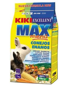 Kiki Max Menu Rabbit Food Dwarf 1 Kg