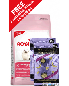 Royal Canin Kitten 36 Cat Food 4 Kg + FREE 2 Solid Gold Katz-N-Flocken Cat Food 85 gms