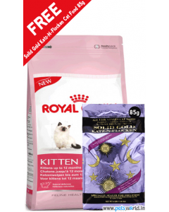Royal Canin Kitten 36 2 Kg + FREE Solid Gold Katz-N-Flocken Cat Food 85 gms