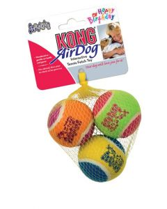 KONG AirDog Squeaker Birthday Balls Dog Toy