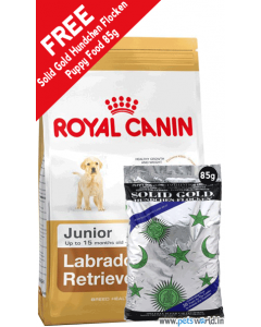 Royal Canin Labrador Junior Dog Food 3 Kg + FREE Solid Gold Hundchen Flocken Puppy Dog Food 85 gms