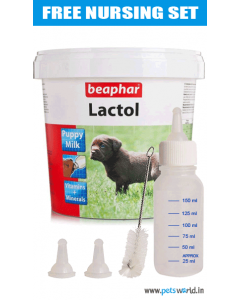 Beaphar Lactol Puppy Milk 250 gms Free Nursing Set
