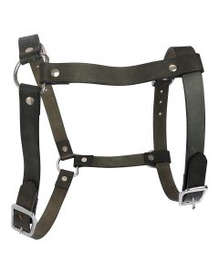 Petsworld Leather Dog Harness for Large and Medium Dogs Olive Green