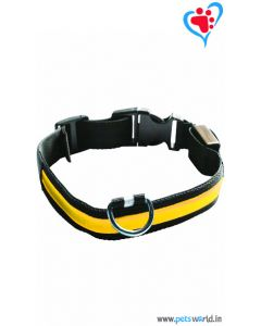 Petsworld LED Dog Collar - Yellow