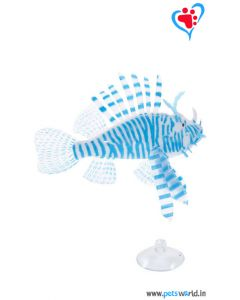 Aqua Geek Aquarium Artificial Floating Lionfish (Blue)