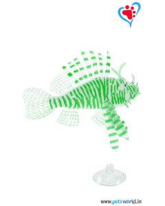Aqua Geek Aquarium Artificial Floating Lionfish (Green)