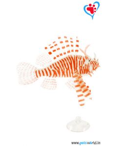 Aqua Geek Aquarium Artificial Floating Lionfish (Orange)