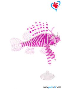 Aqua Geek Aquarium Artificial Floating Lionfish (Pink)