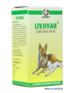 Ayurvet Livjivan Liver Tonic For Dogs 30 ml