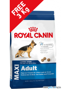 Royal Canin Maxi Adult Dog Food 15 Kg + FREE 3 Kg