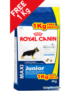 Royal Canin Maxi Junior Dog Food 3 Kg + FREE 1 Kg