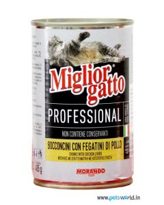 Morando Miglior Gatto Professional Chicken Livers Chunks 405 gms