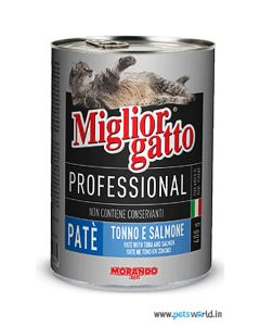 Morando Miglior Gatto Professional Tuna and Salmon Pate 400 gms