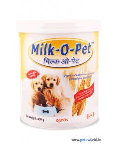 Zoetis Milk O Pet Puppy And Kitten Weaning Supplement 400 gms