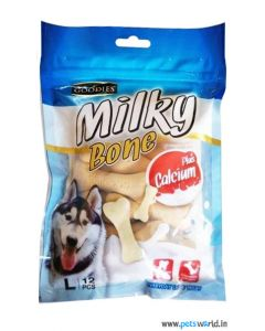 Goodies Dog Treats Milky Bone Calcium Plus Large 12 Pcs