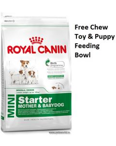 Royal Canin Mini Starter Dog Food 8.5 Kg Plus Free Gifts