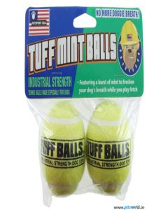 Petsport Tuff Mint Balls Dog Toy 2 pcs