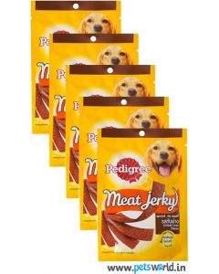 Pedigree Dog Treats Meat Jerky Grilled Liver 5 packs