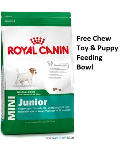 Royal Canin Mini Junior Dog Food 8 Kg Plus Free Gifts