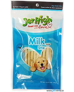 Jerhigh Dog Treats Milk Stix 100 gms