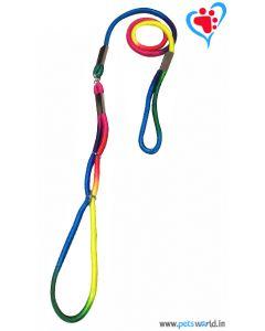 Petsworld Multi Color Dog Collar Leash