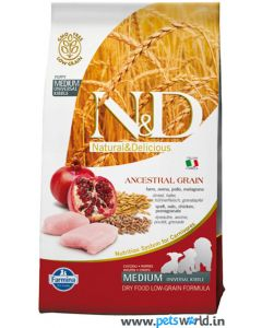 Farmina N&D Low Grain Chicken & Pomegranate Puppy Medium  Dog Food 12 Kg