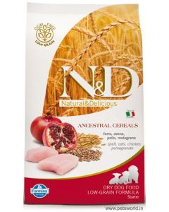 Farmina N&D Low Grain Chicken & Pomegranate Puppy Starter Dog Food 800 gms ( All Breeds)
