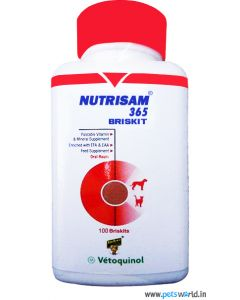 Vetoquinol Nutrisam 365 Briskit Vitamin And Mineral Supplement 100 Tabs