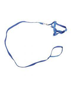 Petsworld Dog Cat Adjustable Nylon Puppy Leash Harness Blue