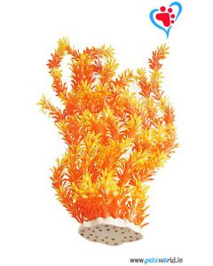 Aqua Geek Premium Orange Plant For Aquarium 21 inches