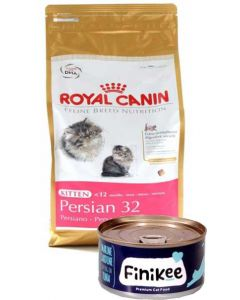Royal Canin Persian Kitten 2 Kg + Free Finikee Cat Food Can New Year Combo