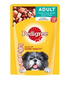 Pedigree Adult Chicken and Liver Chunks 80 gms x 30 pcs