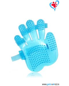 Petsworld Palm Mounted Dog Bathing Glove