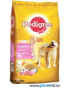 Pedigree Puppy Chicken and Milk Dog Food 15 Kg