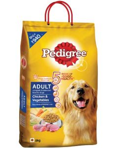 Pedigree Adult Chicken And Vegetable Dog Food 6 Kg