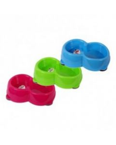 PETS BRAND Colours Double Feeding Dish 350 Ml