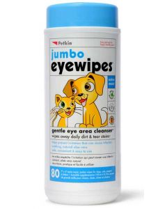 Petkin Jumbo Eye Wipes For Dogs and Cats 80 wipes