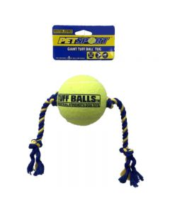PETSPORT Tuff Ball Giant Tug 1 Pk 4""
